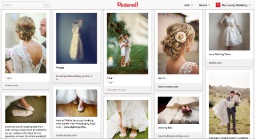 Пять digital-идей для свадьбы: Pinterest